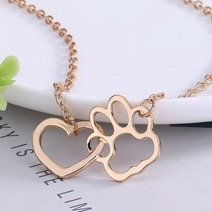 ⚜️[𝟯/$𝟭𝟯]⚜️Gold Paw Heart Delicate Necklace New
